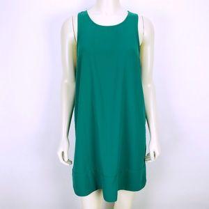 Leith Kelly Green Sleeveless Shift Dress Medium